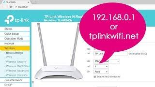 192.168.0.1 | Setup TP-LINK wireless N router TL-WR840N