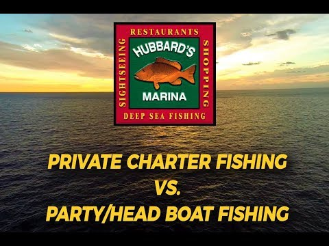 Differences between party boat and private charter fishing? | http://www.HubbardsMarina.com