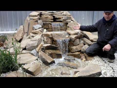 Садовый декоративный пруд. Garden decorative small pond. landscape design