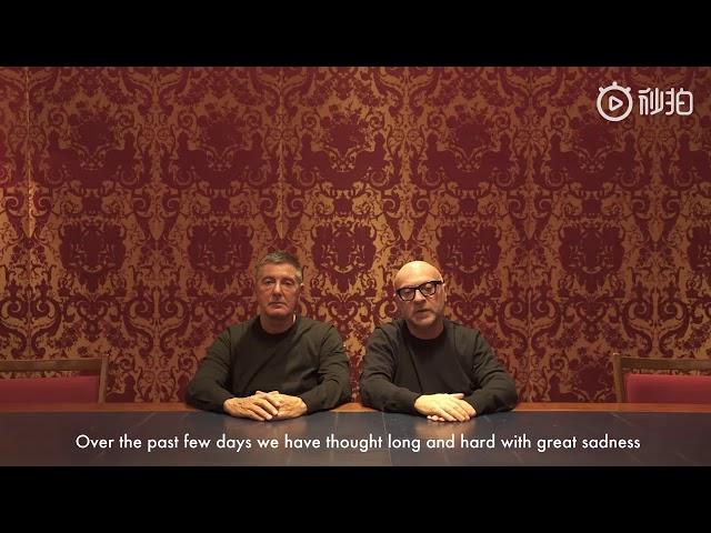 Il video di scuse di Dolce   Gabbana alla Cina 8070c6fe8570