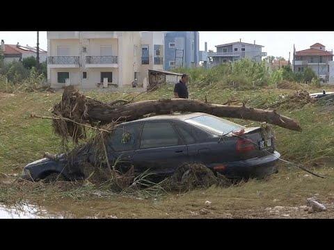 شاهد: ثمانية قتلى خلال فيضانات غيّرت معالم جزيرة إيفيا اليونانية…  - نشر قبل 28 دقيقة