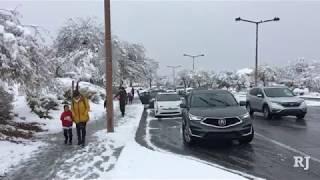 Las Vegas kids attend school in the snow