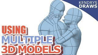 Clip Studio Paint- How to make a scene using multiple 3D models