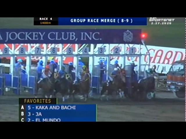 KAKA AND BACHI - MJCI RACE 4 - FEBRUARY 27, 2020 - BAYANG KARERISTA HORSE RACING AT SAN LAZARO