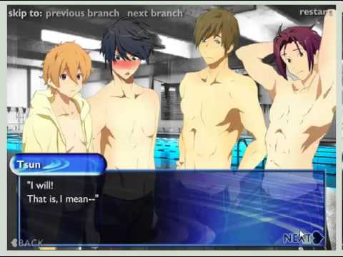 swimming anime dating simulation