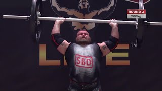 EDDIE HALL AXLE PRESS WORLD RECORD!