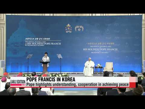 Pope Francis discusses Korean peninsula's peace and reconciliation with President Park