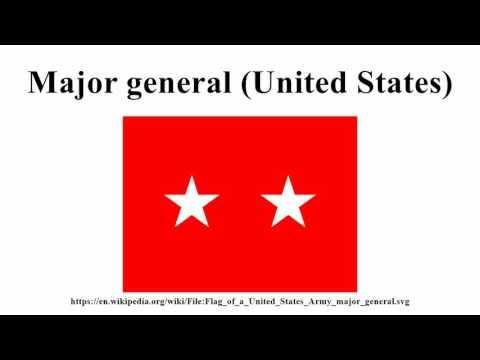 Major general (United States)
