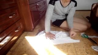 DIY/ Как сделать футболку с вырезом на спине / SM