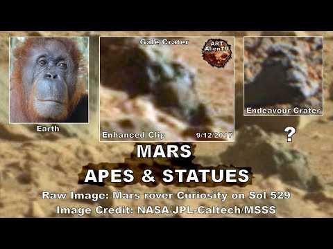 Mars Apes & Statues - Captured by Curiosity & Opportunity. ArtAlienTV