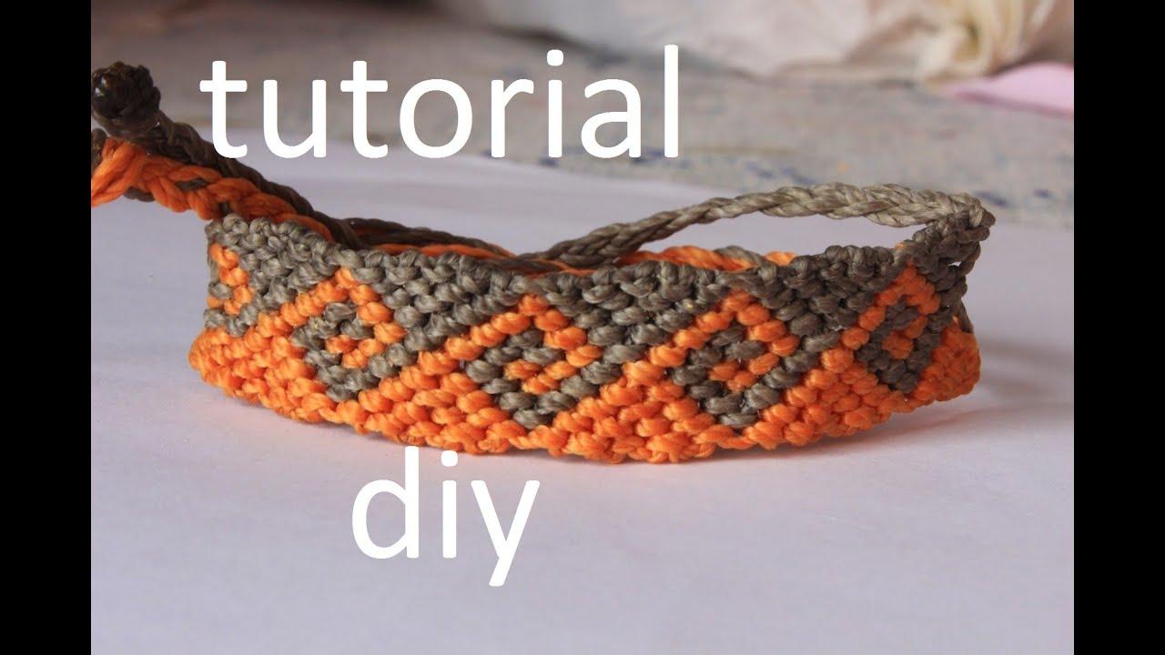 4b926cb70517 como hacer una pulsera macrame ola griega modelo 4 by artemanual