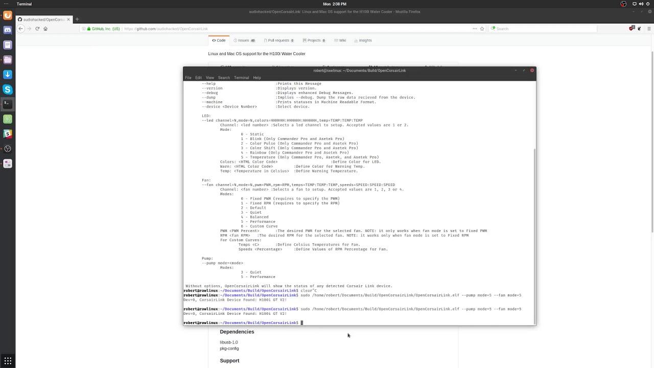 Corsair Link for linux - setup quickie