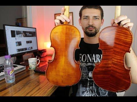 Scott Cao STV-017 vs Aileen VH100 - Choosing my first violin with teacher