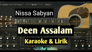Gambar cover Karaoke Deen assalam - Nissa Sabyan full lyric