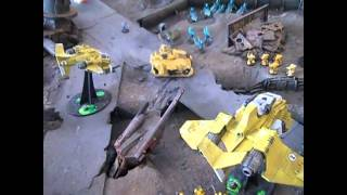 Eldar Vs Imperial Fists Full Warhammer 40k Battle Report- Blue Table Painting