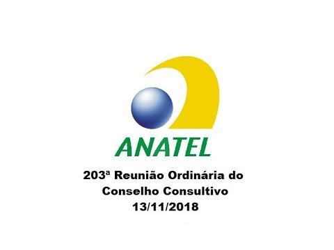 203ª Reunião do Conselho Consultivo, de 13/11/2018