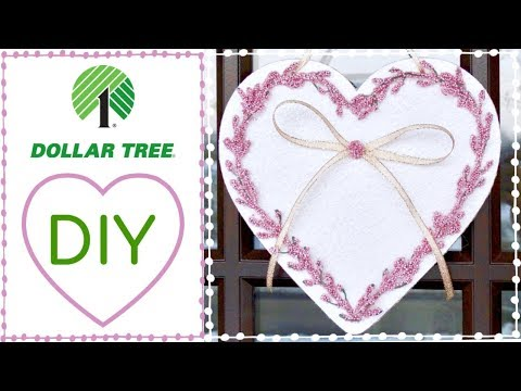 """Dollar Tree DIY Valentine's Wooden Heart and """"Nadia's Little Tip"""" Preventing scratches on doors"""
