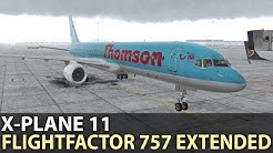 X-Plane 11 FlightFactor 757 v2 The new KDFW to KHOU CessnaRox Livery!