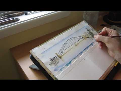 Sydney Harbor Bridge - October Daily Watercolor Sketch Challenge #14