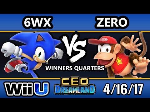 CEO Dreamland 2017 Smash 4 - TSM   ZeRo (Diddy Kong) Vs. Circa   6WX (Sonic) SSB4 Winners Quarters