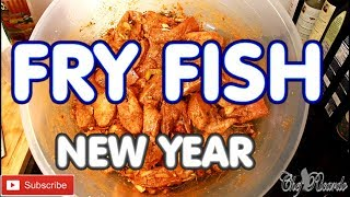 How to seasoning your NEW YEAR FRY FISH  Escovitch Fry Fish with (Jamaica Valley seasoning )