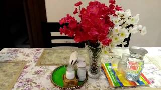 Dining table organization ideas in hindi,easy dining table styling,anvesha,s creativity