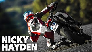 Nicky Hayden Hypermotard 🔝 WHEELIE Ducati Hypermotard Stunt Rider Motorcycle Bike Riding