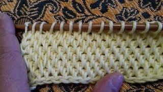 Тунисское вязание крючком(полный столбик)