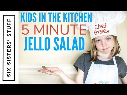 5 MINUTE JELLO SALAD RECIPE - Kids In The Kitchen
