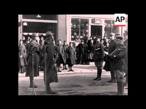 LORD GORT DECORATES FRENCH LIASON OFFICER -  NO SOUND