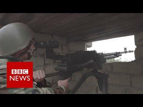 Nagorno - Karabakh conflict: BBC visits Azerbaijan's frontline - BBC News