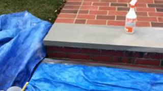 Removing efflorescence from brick