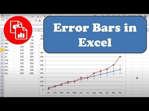 Add Error Bars To A Line Chart
