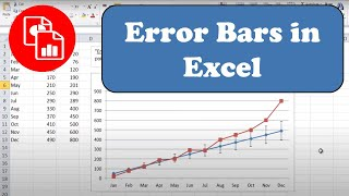 Add Error Bars to a Line Chart