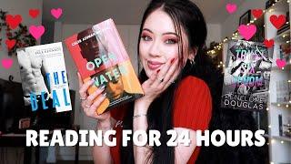 no sleeping, just reading for 24 hours   24 HOUR ROMANCE READATHON VLOG