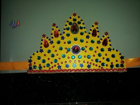 DIY // New Creativity // Simple and easy to make Beautiful Crown