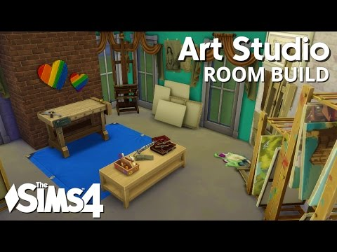 The Sims 4 Room Build - Art Studio