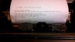 teletype on the radio