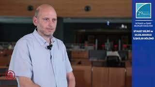 Prof. Dr. Michelangelo GUIDA Siyaset Bilimi ve Uluslararası İlişkiler Bölümünü Anlatıyor
