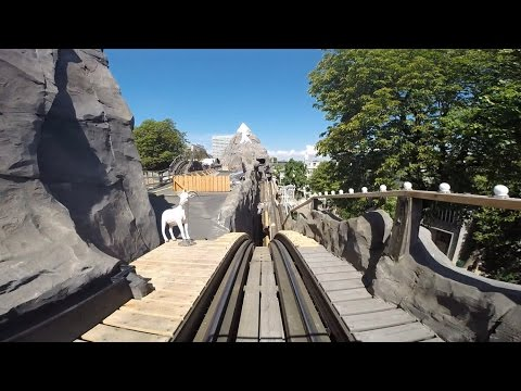 Rutschebanen front seat on-ride HD POV Tivoli Gardens