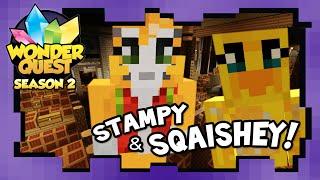 wonder quest season 2 ep 2 stampy s minecraft show   stampylonghead sqaishey