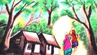 How To Draw Beautyful Nature Rangoli - K93