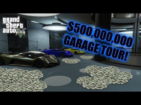 GTA 5 - $500,000,000 GARAGE TOUR!! OVER 170 VEHICLES!! (GTA 5 Online)