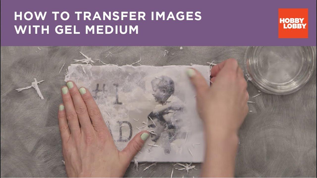 Medium gel transfer photo