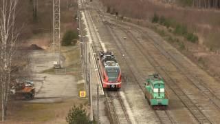 Штадлерский дизель-поезд 2235 на ст. Пярну-Грузовая / Stadler DMU 2235 at Pärnu-Freight station