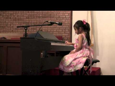 Sweet Little 5 Year Old Girl Plays Mozart A Little Night Music  Angelica Hale