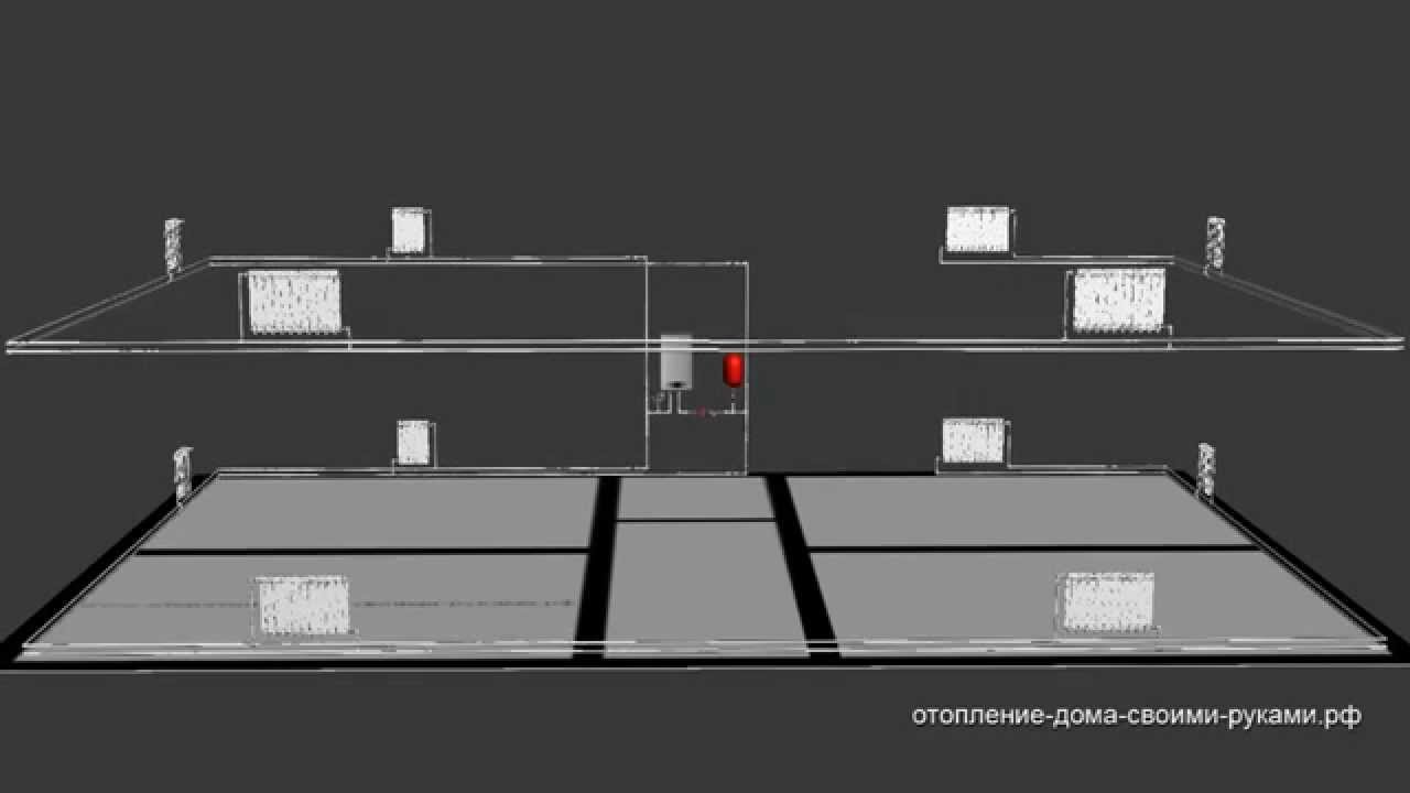 Схема двухтрубного отопления частном доме фото 390
