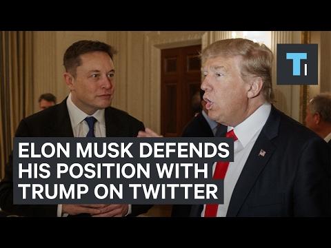 Elon Musk launched a tweetstorm defending his position as a Trump advisor