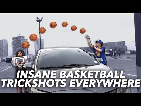 MINI BASKETBALL TRICKSHOTS EVERYWHERE | Ranz and Niana