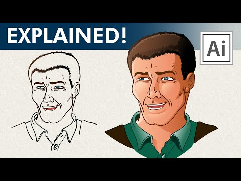 Inking Coloring and Drawing Tutorial for Adobe Illustrator
